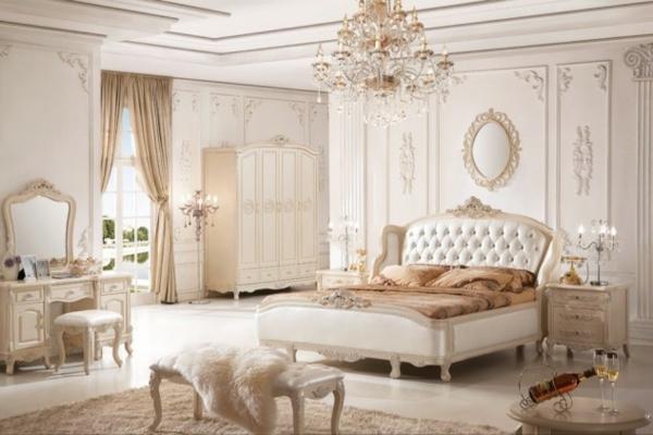 spalnq frenski stil interior dizain obzavejdane leglo shkaf