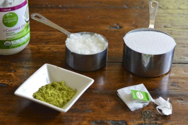 domashen eksfoliant zelen chai napravi si sam