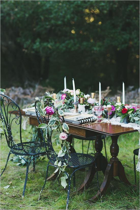 градинска сватба украса идеи