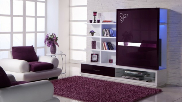 hol lilavo dizain interior obzavejdane mebeli sekciq