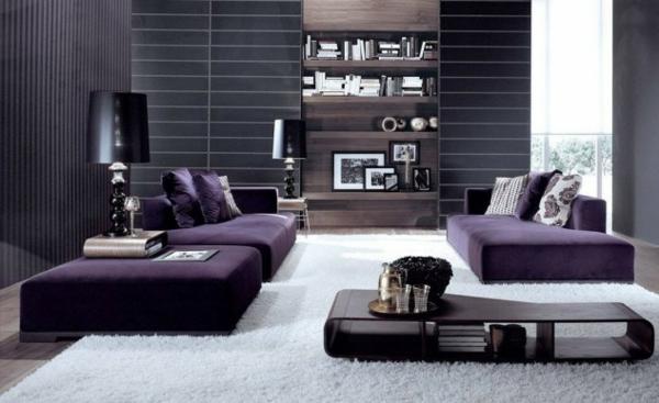 hol lilavo interioren dizain divani obzavejdane kilim