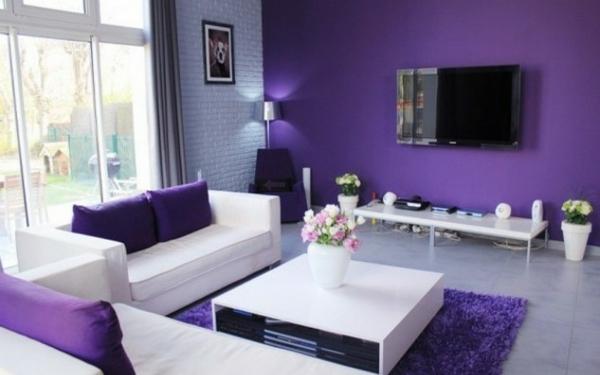 hol lilavo interioren dizain divani obzavejdane masa dekoraciq