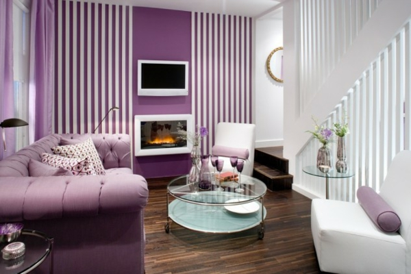 hol lilavo obzavejdane interioren dizain divan masa