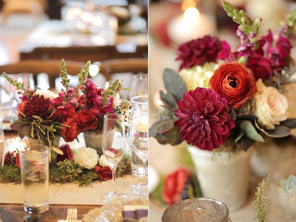 сватбена декорация с цветя