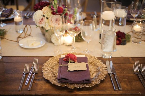 сватбена декорация на масите