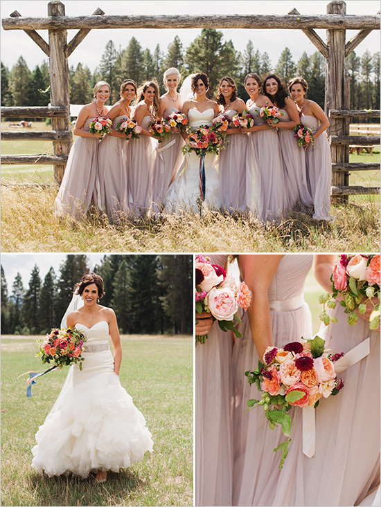 сватбена фотография булка шаферки