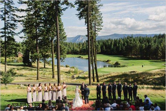 идея за сватба на брега на езеро