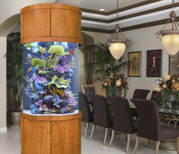 krugal akvarium v trapezariqta