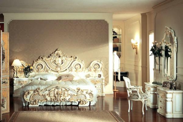 interioren dizain spalnq frenski stil obzavejdane leglo darvorezba