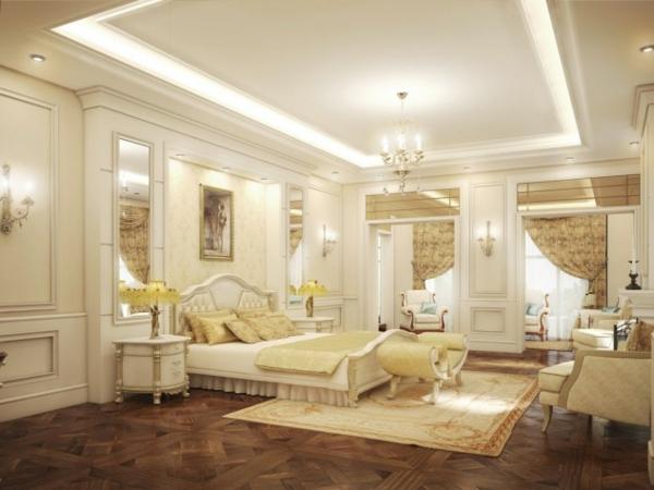 interior spalnq frenski stil obzavejdane dizain bejovo