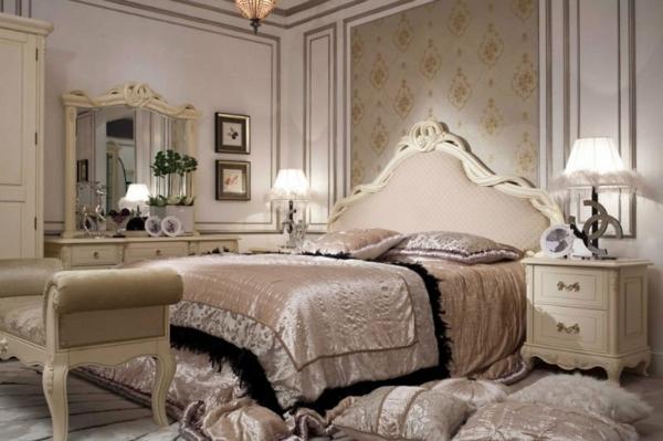 interior spalnq frenski stil leglo mebeli koprina