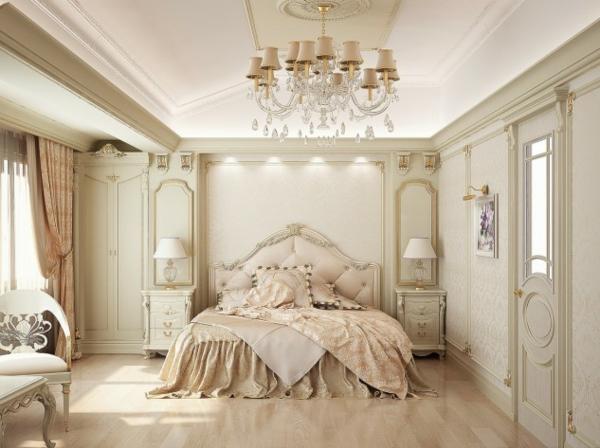 interior spalnq frenski stil leglo obzavejdane bejovo