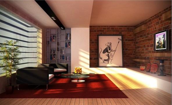 interioren dizain hol art obzavejdane divan kilim
