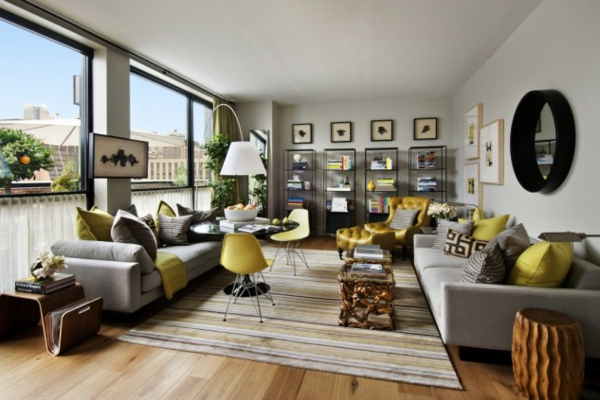 interioren dizain hol art stil divani obzavejdane kilim