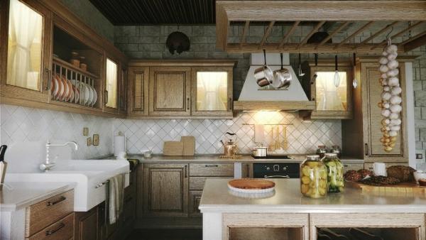 interioren dizain kuhnq tradicionen stil obzavejdane darvo