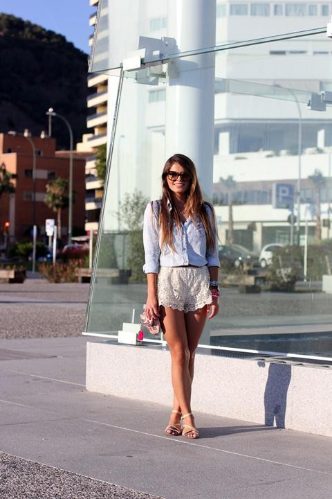 kasi danteleni pantaloni beli street style