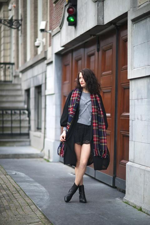 kasi danteleni pantaloni cherni street style