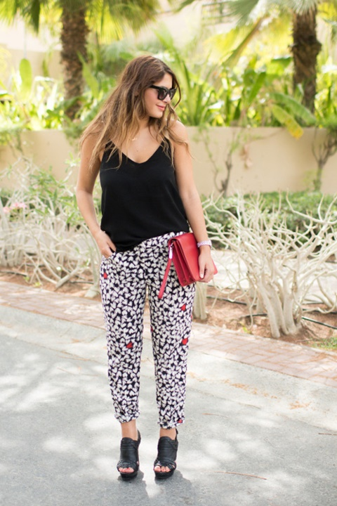 letni pantaloni cherno bql print
