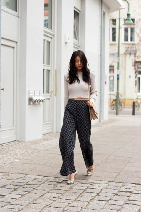 letni pantaloni print kare