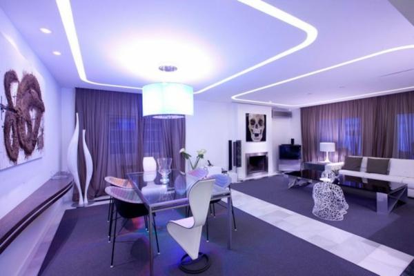 lilav hol interioren dizain masa obzavejdane stolove