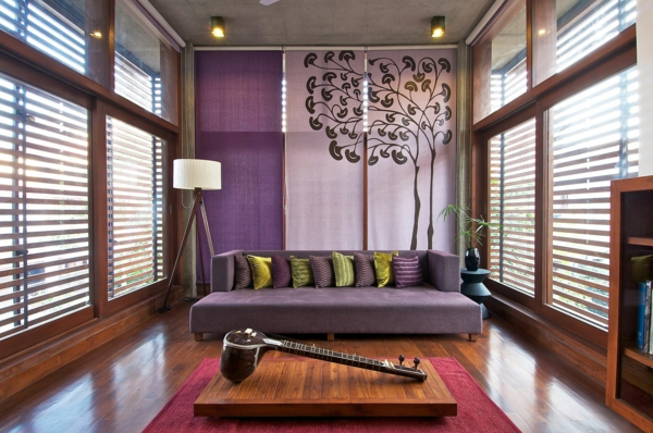 lilav hol obzavejdane dizain interior divan dekoraciq