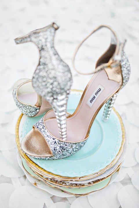 сватбени обувки с камъни miu miu