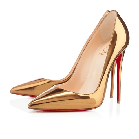 obuvki christian louboutin zlatni