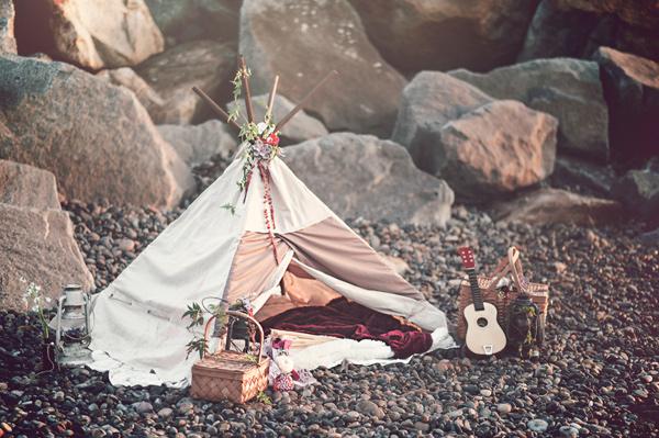 плажна сватба бохемски стил идеи