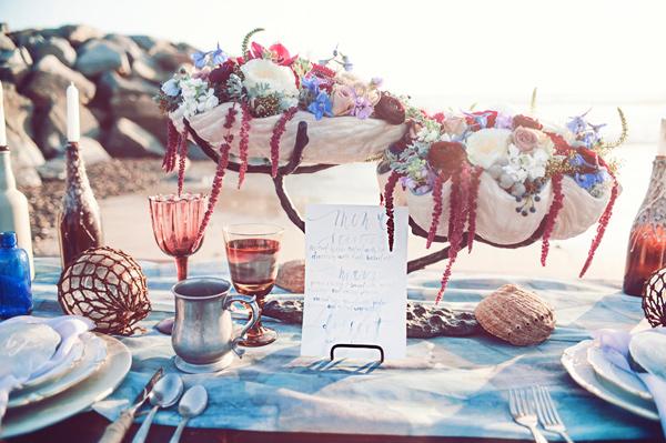 сватбена украса за плажна сватба