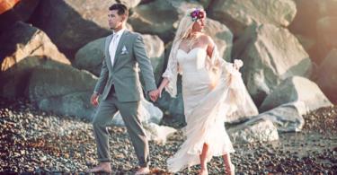 plajna svatba v bohemski stil