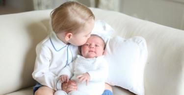 Принц Джордж и принцеса Шарлот в портрети