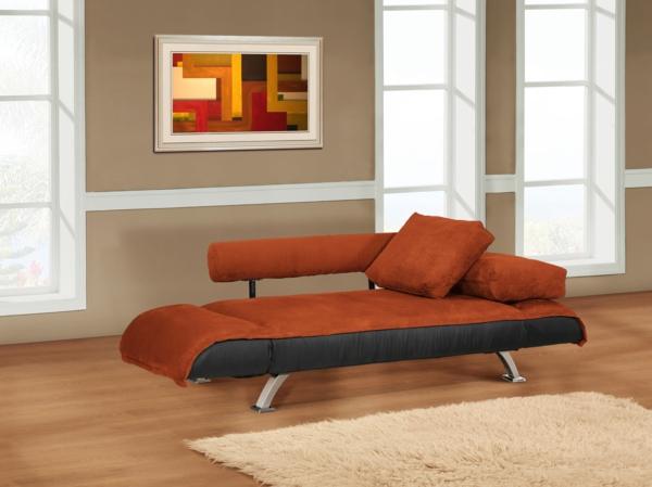 raztegatelen divan obzavejdane interior kafqvo leglo oranjevo