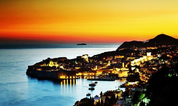romantichni gradove dubrovnik kashti zalez peizaj