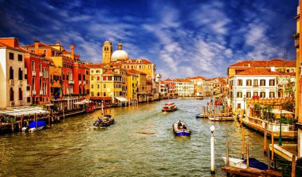 romantichni gradove veneciq italiq lodki kanal