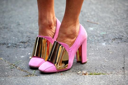стрийт стайл цветни обувки розови