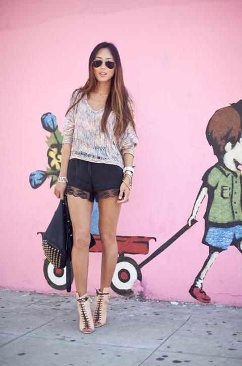 sivi danteleni kasi pantaloni street style