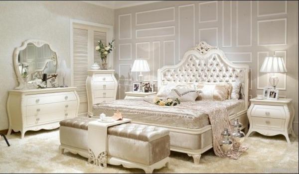 spalnq frenski stil interior dizain bqlo mebeli bejovo