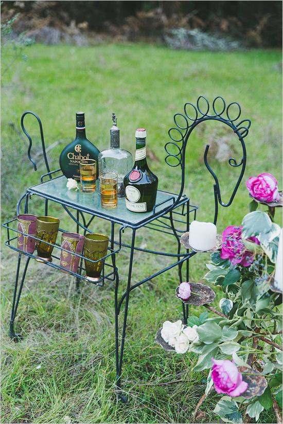 идея за бохемска сватба в градина