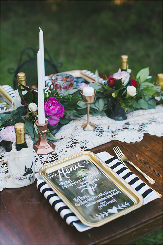 сватбена декорация на маса