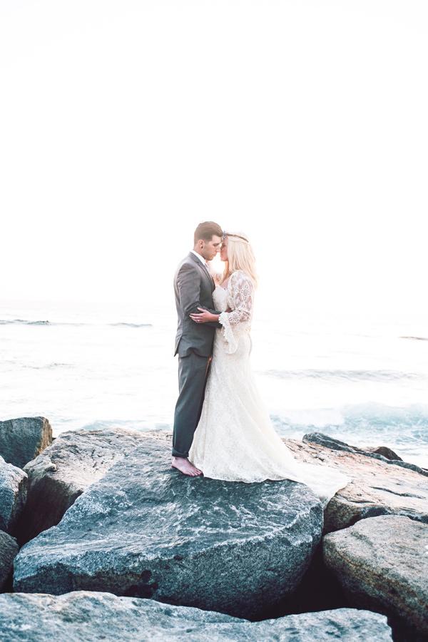плажна сватба бохемски стил идеи фотография