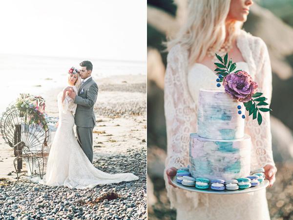 плажна сватба в бохемски стил идеи фотография