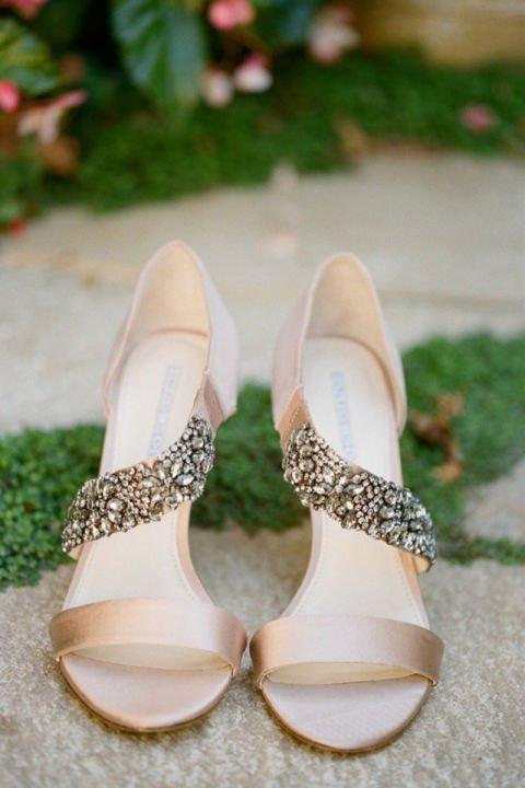 сватбени обувки бежови с камхъни