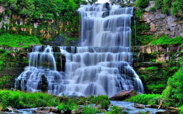 vodopadi albion kanada skali priroda rasteniq