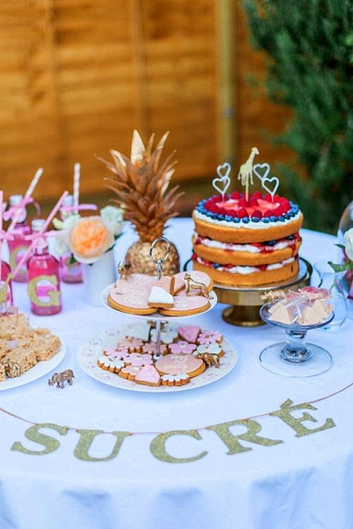 бебешко парти декорация маса
