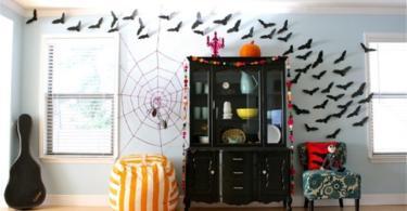 декорация за хелоуин прилепи