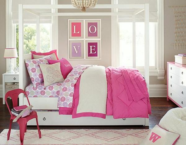 детска стая момичета розово бяло