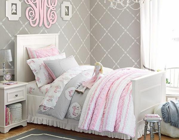 детска стая момичета розово сиво