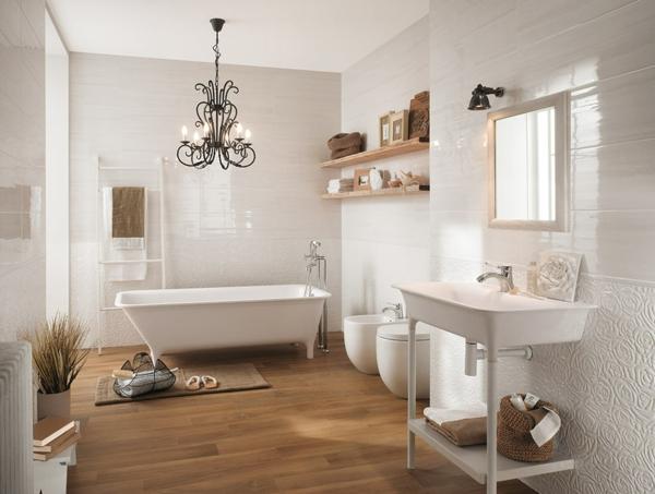 дизайн-на-баня-дърво-бяла-вана-обзавеждане