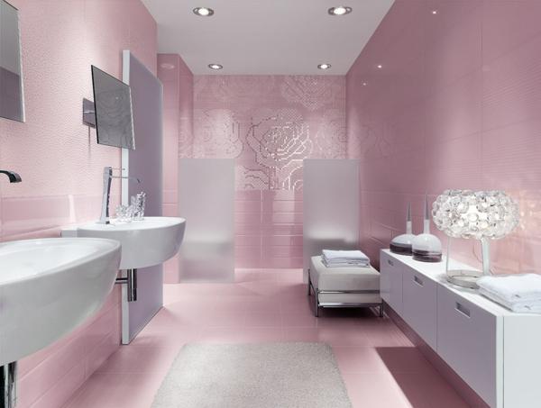 дизайн-на-баня-розово-бяло-мивки-интериор