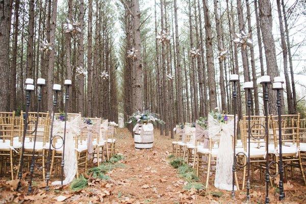 есенни идеи за сватба олтар декорация